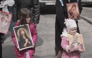 Крестный ход в Белграде на Благовещение