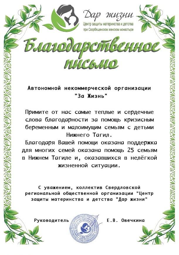 Нижний Тагил благодарит за помощь семьям на Михайловских днях