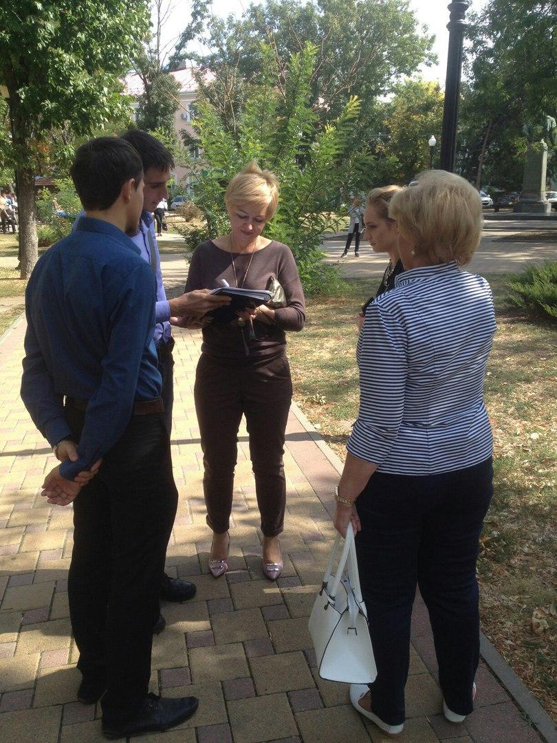 Сбор подписей в день выборов в Ейске