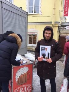 Сбор подписей за запрет абортов у часовни святой блаженной Ксении Петербургской