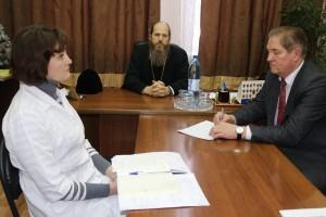 Глава Выкскнской епархии встретился с персоналом Кулебакской Центральной районной больницы