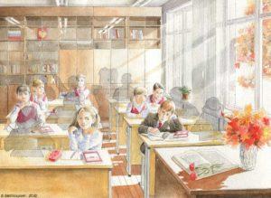 Картина «Тени сентября» Борис Заболоцкий